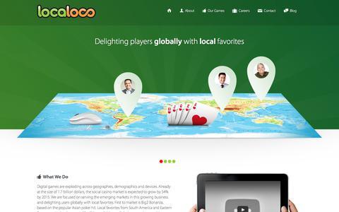Screenshot of Home Page localocogames.com - Localoco - captured Aug. 19, 2017
