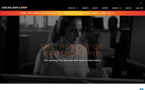 Screenshot of Support Page dealer.com - Dealer.com's Automotive Tech Support and Digital Advisory Teams - captured Feb. 12, 2019