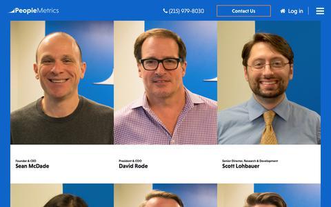Screenshot of Team Page peoplemetrics.com - PeopleMetrics Leadership - captured July 17, 2018