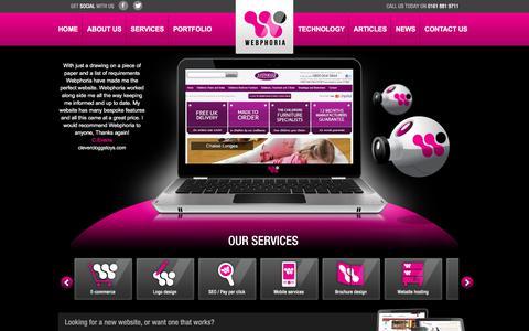 Screenshot of Home Page webphoria.co.uk - Web Design Company Manchester | Affordable Websites | SEO | E-Commerce - captured Nov. 29, 2017