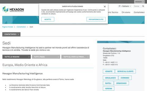 Screenshot of Locations Page hexagonmi.com - Sedi | Hexagon Manufacturing Intelligence - captured Nov. 25, 2017