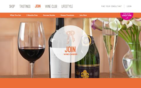 Screenshot of Signup Page wineshopathome.com - Join and Build a Career in the World of Wine - captured Oct. 26, 2014