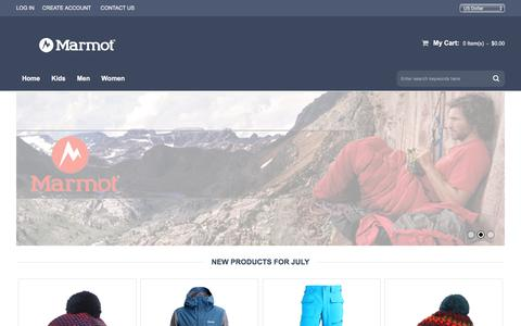 Screenshot of Home Page hesattheavenue.com - Marmot UK Clothing Outlet Store - Free Delivery On All Mens & Womens Jacket - captured July 16, 2017