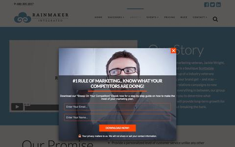 Screenshot of About Page rmimpr.com - About Rainmaker Integrated Marketing - captured Nov. 15, 2018