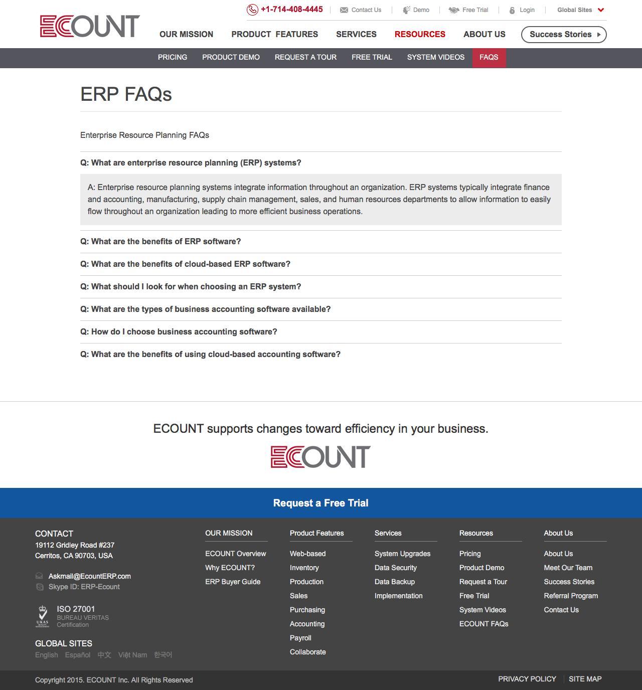 Web Design Example | A page on ecounterp com | Crayon