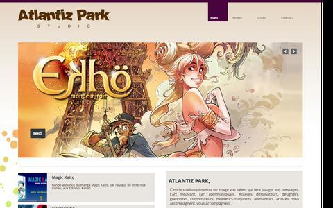 Screenshot of Home Page Press Page atlantizpark.com - Home | Atlantiz Park - captured Sept. 30, 2014