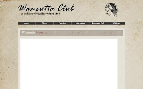Screenshot of Press Page wamsuttaclub.org - Wamsutta Club - captured June 15, 2016