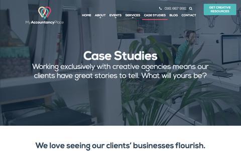 Screenshot of Case Studies Page myaccountancyplace.co.uk - Case Studies - My Accountancy Place - captured Aug. 17, 2016