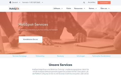 Screenshot of Services Page hubspot.de - HubSpot-Services | Individuelle Beratung und Ressourcen für Ihr Inbound-Marketing - captured Nov. 11, 2017