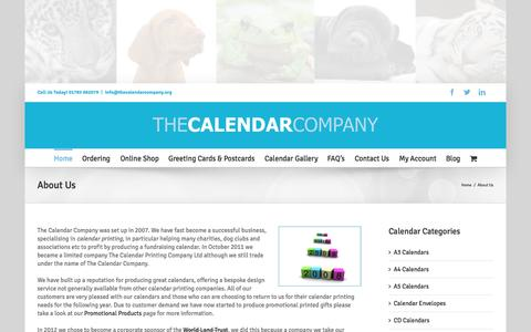 Screenshot of About Page thecalendarcompany.org - About Us | Calendar Printing | The Calendar Company | Promotional Products - captured Aug. 15, 2015