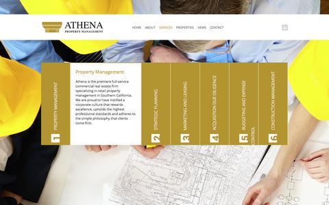 Screenshot of Services Page athena-pm.com - Services | Athena Property Management - captured Oct. 4, 2014