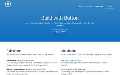 Screenshot of Developers Page usebutton.com - Button | Developers - captured Feb. 3, 2017