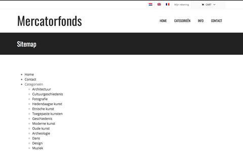 Screenshot of Site Map Page mercatorfonds.be - Sitemap – Mercatorfonds - captured Sept. 20, 2018