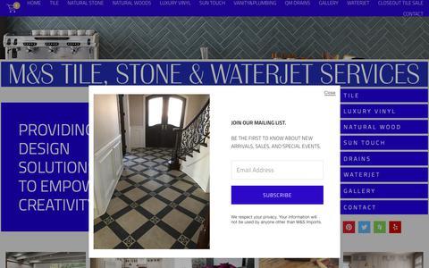 Screenshot of Home Page mstilestone.com - M&S Imports. Ltd. - captured Sept. 30, 2018