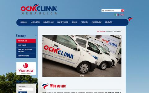 Screenshot of Home Page ocmclima.com - OCM Clima - Air Specialists | Company - Who we are - captured Oct. 6, 2014