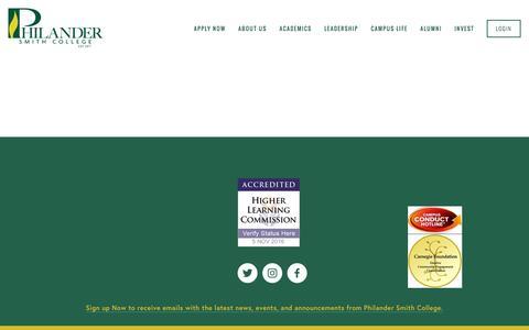 Screenshot of Contact Page philander.edu - Contact Us — Philander Smith College - captured Nov. 5, 2016