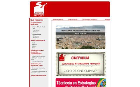 Screenshot of Home Page solidaridadandalucia.org - Solidaridad Internacional Andalucía - captured June 21, 2015