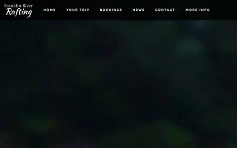 Screenshot of Testimonials Page franklinriverrafting.com - Franklin River Rafting - captured Sept. 30, 2014