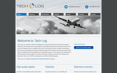 Screenshot of Home Page tech-log.com - Tech-Log - Home - captured Jan. 12, 2016