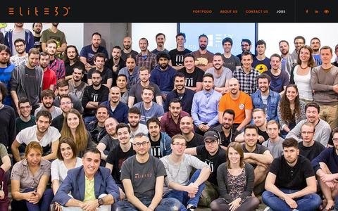 Screenshot of Jobs Page elite3d.com - Work with us | elite3d - captured May 24, 2017