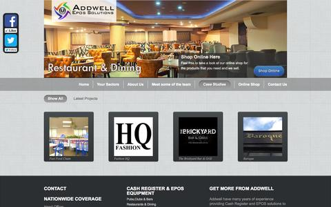 Screenshot of Case Studies Page addwell.co.uk - Case Studies | Addwell –  Cash Registers | Epos Systems | Point of sale - captured Oct. 4, 2014