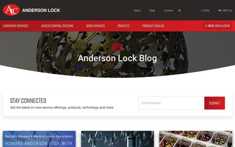 Screenshot of Blog andersonlock.com - inDoors - A Locksmith & Door Hardware Blog   Anderson Lock - captured July 30, 2018
