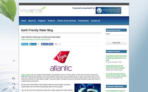 Screenshot of Blog aquahealth.com - Earth Friendly Water Blog - captured Nov. 21, 2016