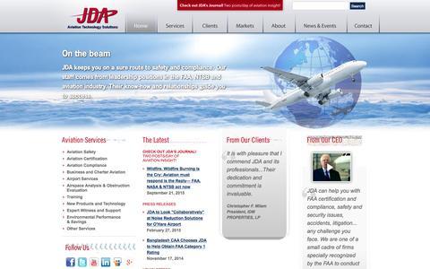 Screenshot of Home Page jdasolutions.aero - JDA | Aviation Technology Solutions | Aviation Consultants | Aviation Solutions - captured Sept. 21, 2015