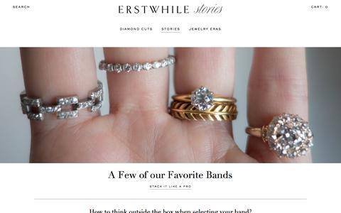 Screenshot of Blog erstwhilejewelry.com - Stories   Erstwhile Jewelry - captured Jan. 19, 2016