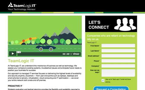 Screenshot of Landing Page teamlogicit.com - Managed IT Services | IT Service Providers | IT Consultants | TeamLogic IT  | - captured Oct. 10, 2016