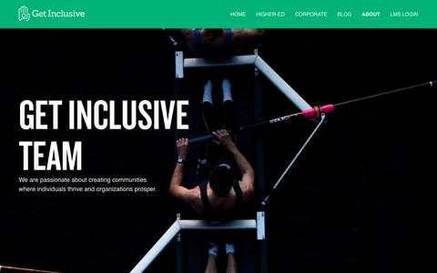 Screenshot of About Page getinclusive.com - About | GET INCLUSIVE - captured July 7, 2019