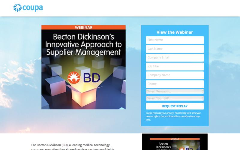 BD Innovative Approach to Supplier Management | Indirect Purchasing Process Solution | Coupa Software