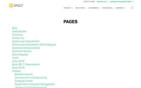 Sitemap - Spigit