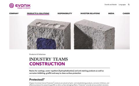Protection of Structures - Construction Industry - Evonik Industries AG