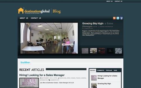 Screenshot of Blog destiglobal.com - Destination Global — News and insights - captured Oct. 5, 2014