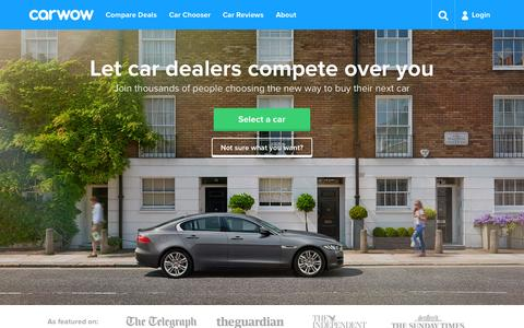 Screenshot of Home Page carwow.co.uk - carwow | Smart new car buying - captured Oct. 1, 2015