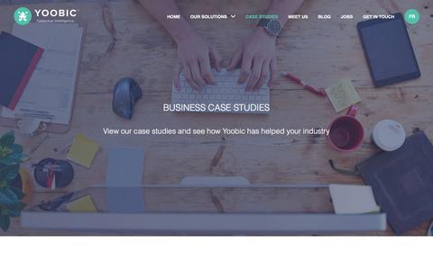 Screenshot of Case Studies Page yoobic.com - Case Studies - Yoobic - captured May 25, 2017
