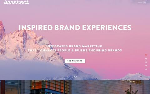 Screenshot of Home Page barnhartusa.com - Barnhart: Full Service Advertising Agency in Denver, Colorado - captured Nov. 22, 2016