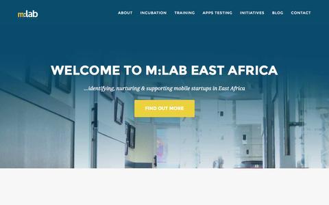 Screenshot of Home Page mlab.co.ke - m:lab East Africa | mobile. startups. learning - captured Feb. 22, 2016