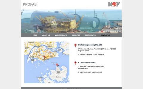 Screenshot of Contact Page nov.com - Contact Us - captured Oct. 15, 2016