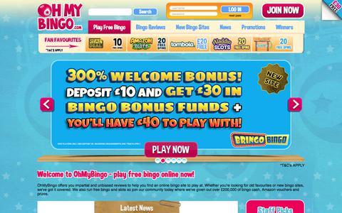 Screenshot of Home Page ohmybingo.com - Play Free Bingo Online | Bingo Sites + Bingo Offers | OhMyBingo - captured Aug. 20, 2017