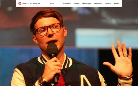 Screenshot of Home Page thecity.org - The City Church - captured Sept. 25, 2014