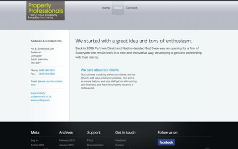 Screenshot of About Page property-professionals.co.uk - About | property-professionals.co.uk - captured Oct. 27, 2014