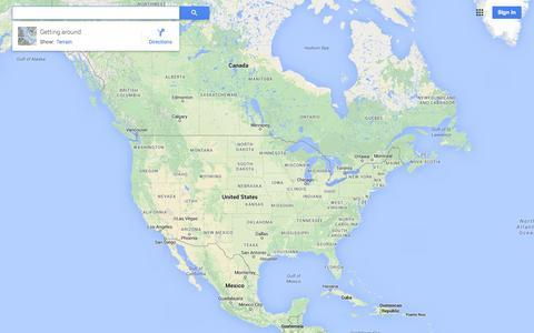 Screenshot of Maps & Directions Page google.com - Google Maps - captured Oct. 28, 2014