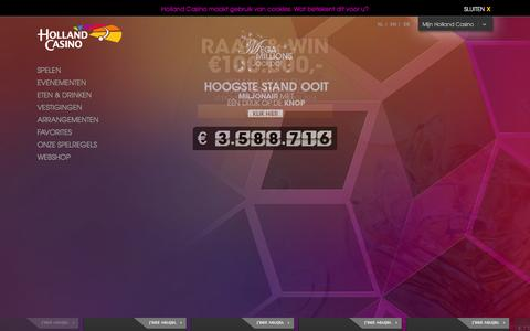 Screenshot of Home Page hollandcasino.nl - Holland Casino - captured Dec. 11, 2015