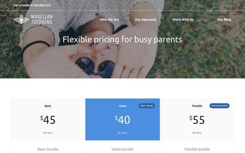 Screenshot of Pricing Page magellantutoring.com - Pricing   Magellan Tutoring - captured Oct. 1, 2018