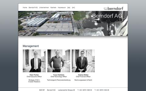 Screenshot of Team Page berndorf.at - Management - Berndorf AG - captured April 12, 2016
