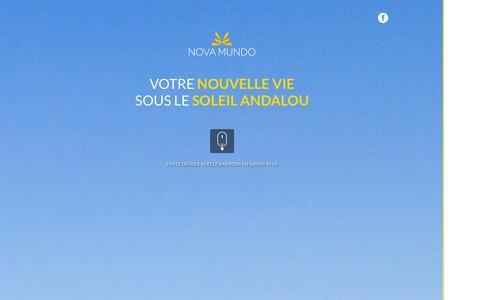 Screenshot of Home Page nova-mundo.com - Portail | Nova mundo - captured Sept. 30, 2014