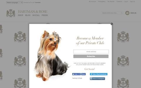 Screenshot of Signup Page hartmanandrose.com - Create New Customer Account   Hartman & Rose - captured Oct. 27, 2016