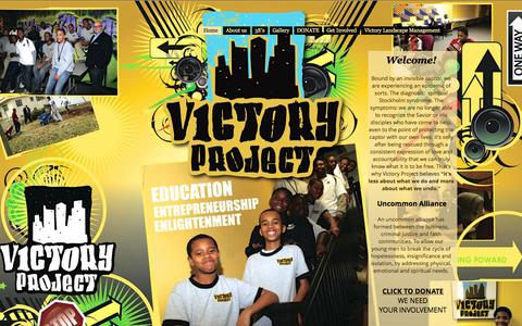 Screenshot of Home Page victoryproject.org - victory-project - captured Sept. 30, 2014
